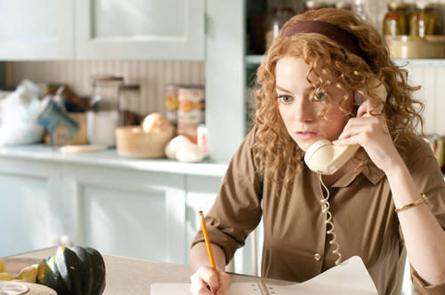 "Emma Stone as ""Skeeter Phelan"" in The Help."