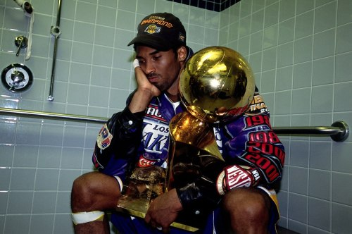 What's left to ponder? nba:   June 15, 2001: LA Lakers defeat the Philadelphia 76ers 4-1 in the 2001 NBA Finals. (Photo by Jesse D. Garrabrant/NBAE via Getty Images)