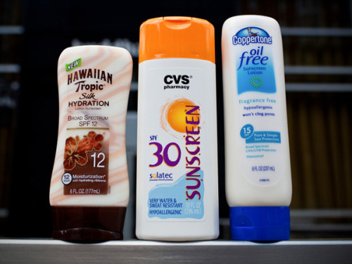 "ucsdhealthsciences:  Don't Get Burned by Sunscreen Label Delay Today, June 18, 2012, was the original FDA deadline for sunscreen manufacturers to update their labels.  Now, those companies have a little extra time.  Manufacturers said they needed more than one year to change the labels and warned that there may be sunscreen shortages if the new labels were to go into effect today.  The FDA pushed back the ""new label"" implementation date to December 2012.  Smaller companies, with less than $25,000 in sales, will have until June 2013.   According to Greg Daniels, MD, PhD, clinical coordinator for the melanoma program at UC San Diego Moores Cancer Center, here are the key ""things to know"" about sunscreen and labels: Labels with the phrase ""Broad Spectrum"" must block both UVA and UVB rays. Terms such as ""sunblock,"" ""waterproof,"" and ""sweatproof"" will no longer be allowed. SPF50 is the highest allowed sun protection factor.  Anything higher than 50+ is considered unrealistic. Sunscreens with an SPF lower than 15 must include this warning: ""This product has been shown only to help prevent sunburn, not skin cancer or early skin aging.""  New labels must explain how often the sunscreen should be reapplied.  Image source: NPR"