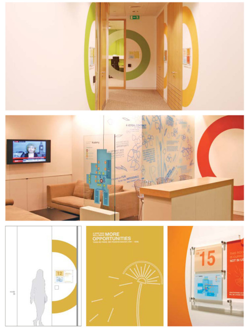 Clifford Chance Academy Graphics. Interior navigational graphics & illustrations for the training floor. (created by Chloe Dunne whilst working at The One Off).