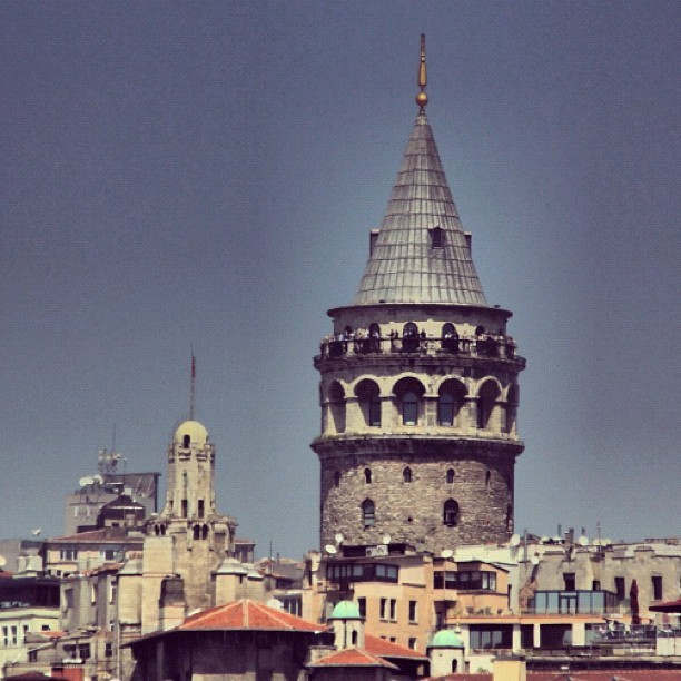 Galata tower , #Istanbul , #Turkey  (Taken with Instagram)