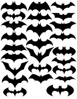 popchartlab:  The evolution of the Batman symbol.