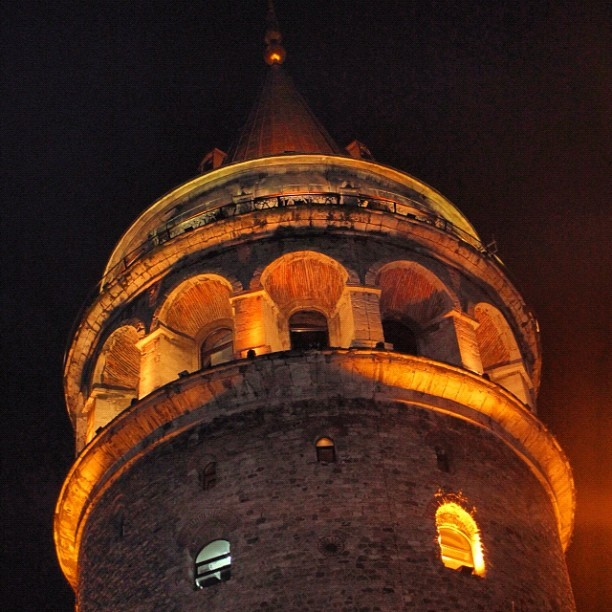 Close shot to Galata #Tower , #Istanbul #Turkey  (Taken with Instagram)