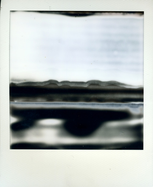 workman:  polaroidsandthoughts: dunkle gestade (dark shores) Camera: Polaroid Sx-70 Sonar Autofocus; Film: Impossible Project Px100 testfilm mishap.