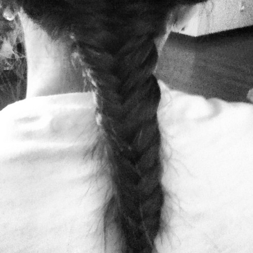 Fish braided my cousin's hair. #fishbraid (Taken with Instagram)