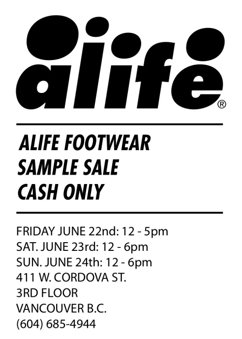 Get ready sneaker fanatics. Alife sample sale starts this Friday, June 22 in Vancouver.