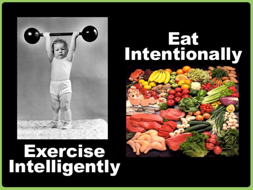 t-is-for-training:  Eat Intentionally.  Exercise Intelligently. The rest will follow Naturally.