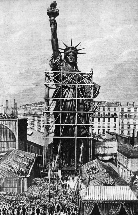 Statue of Liberty Delivered to the American Ambassador in Paris, France, July, 4th, 1884