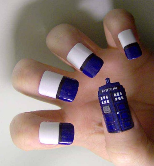 Dr. Who Nail Art