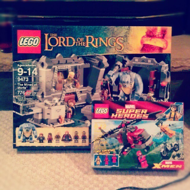 I couldn't resist. #lego #lotr #marvel (Taken with Instagram)