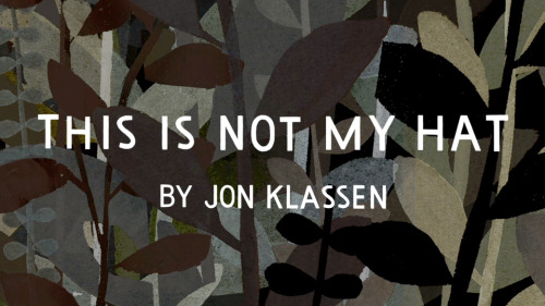 this is a still from the book trailer for This Is Not My Hat. Animation's all done but we're workin on the music. fun stuff!