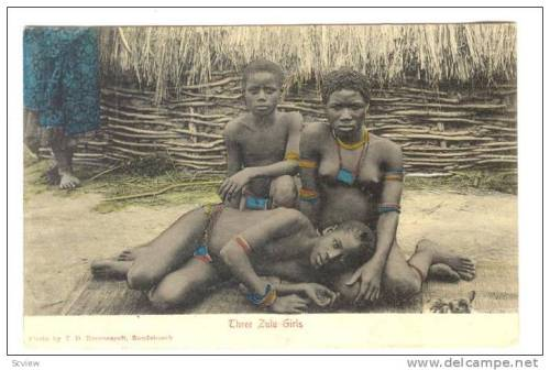 Three Zulu Girls Cape Town, South Africa 1900-1910s