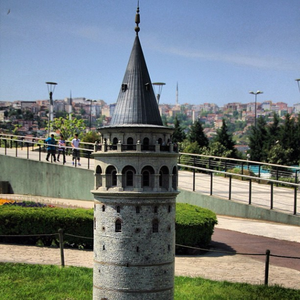 Galata #Tower in MiniaTurk , #Istanbul #Turkey  (Taken with Instagram)