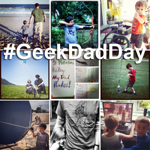 We saw great photos on Instagram for our community challenge for #GeekDadDay! Our favorites: From left to right: row 1: @faulkner1129, @supermartianrobot, @77chuck row 2: @rpeschetz, @nateekins, @weudel row 3: @calebtemple, @a4sterling, @bengt_anders_rask