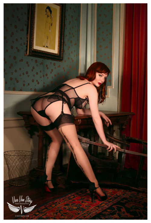 "vivaspinups:           Photo: Viva Van Story  Model: Angela Ryan  Tease for new book ""Sheer"" PreOrder a copy now vivaspinups@gmail.com"