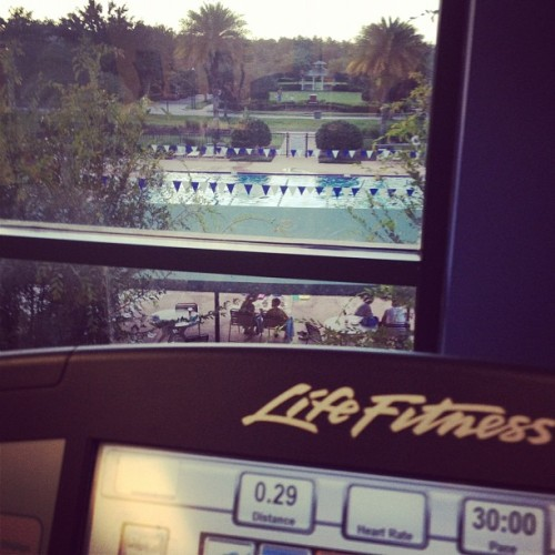 Music, great view and a good Workout!  (Taken with Instagram at YMCA)