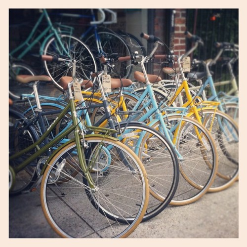 #Bikers  (Taken with Instagram at Landmark Vintage Bicycles)