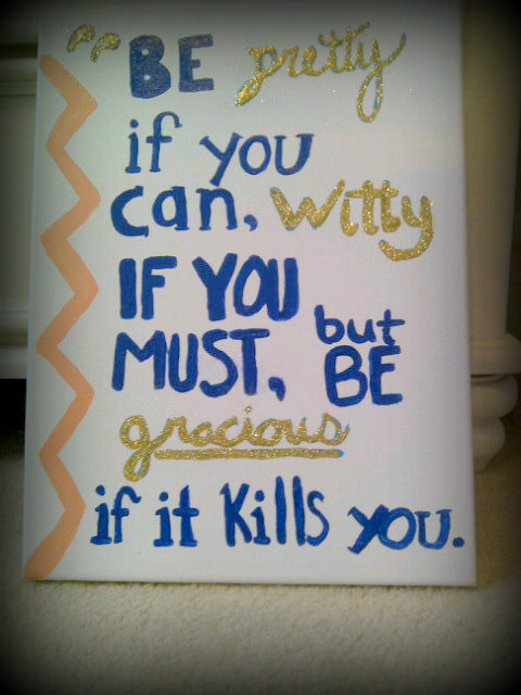 It's not perfect, but I was crafty today :)