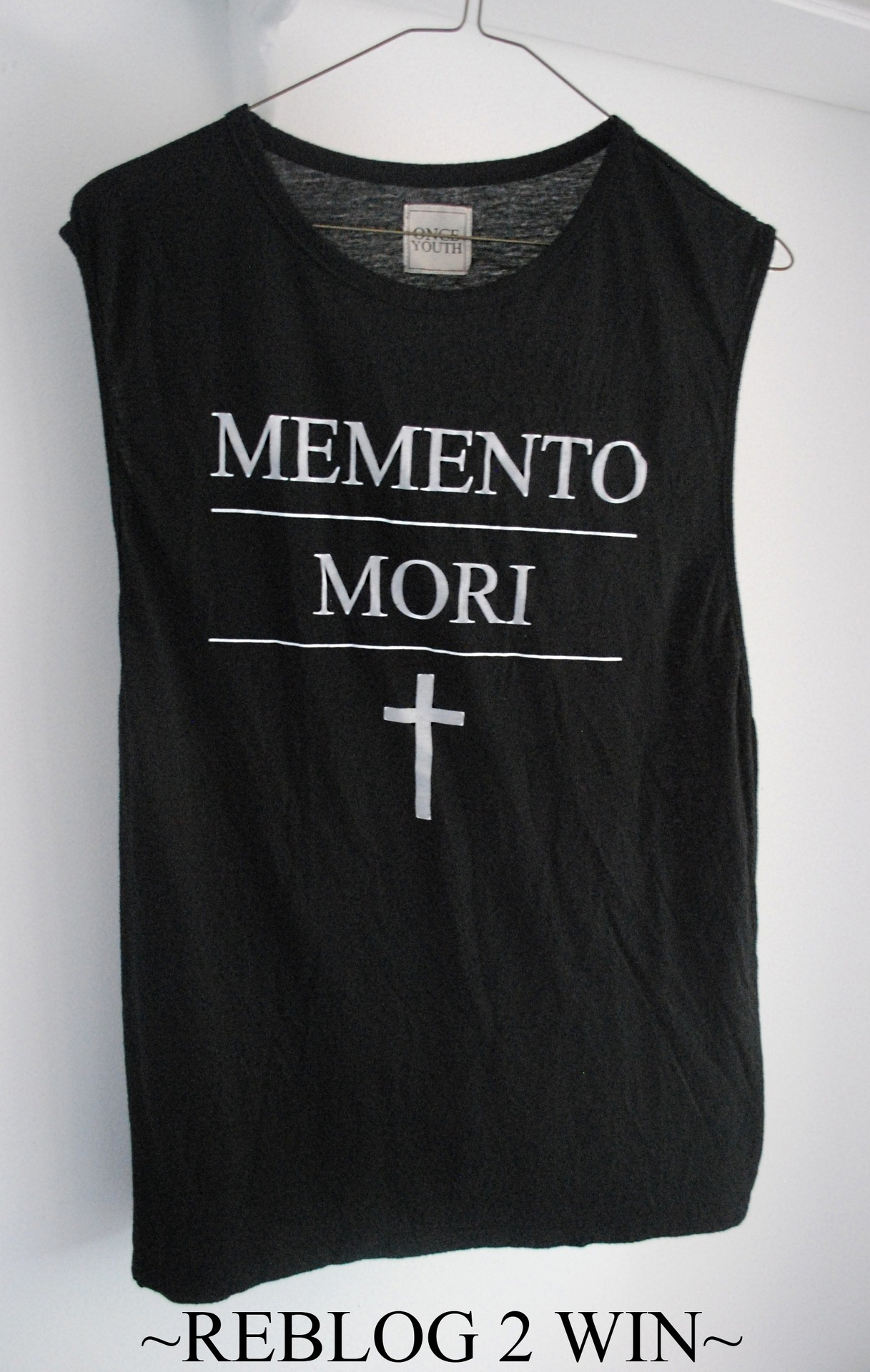 onceyouthcult:  Want Once Youth's Memento Mori Muscle Tank? We will chose a reblogger at random in one week. Good luck everyone!
