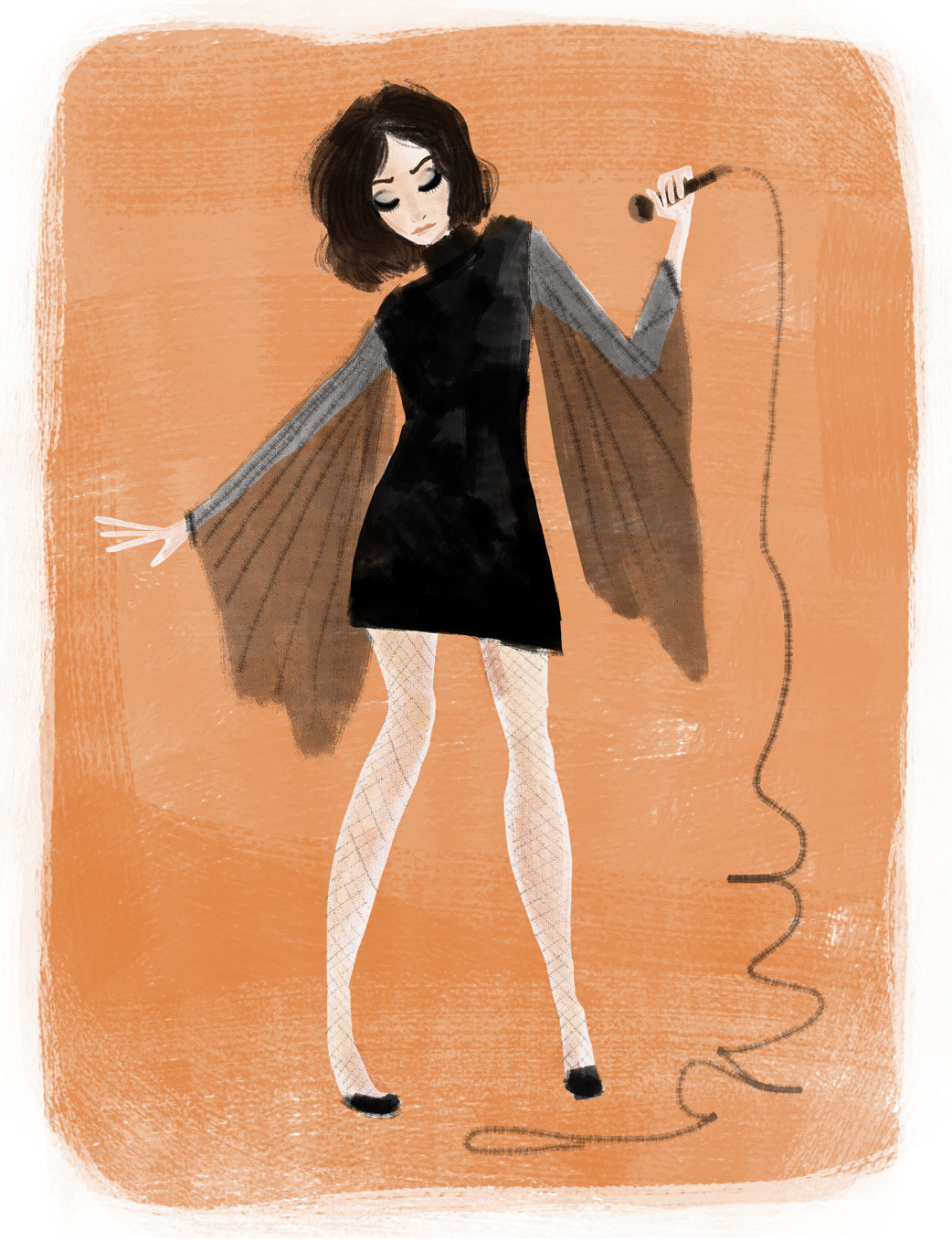 Mad Men's Megan Draper illustrated by Emily M Hughes