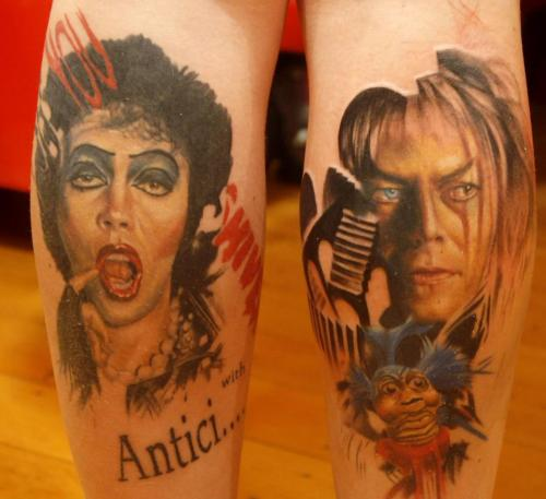 fuckyeahtattoos:  My finished legs!! By the Ah-Maze-ZING Andrew Swarbrick or Left Hand Path.  He da man bitchez. Boo yah!! For more of my tattoos plus tattoos I do…. http://juliastardust.tumblr.com/ Much love. x