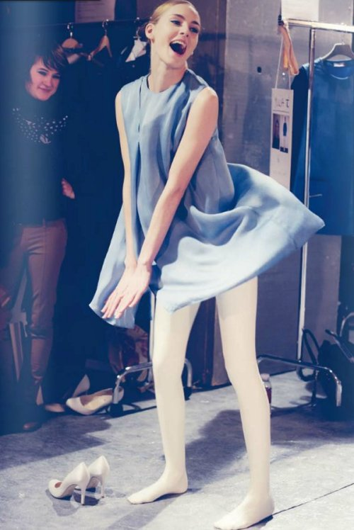 dustjacketattic:  backstage at Tsumori Chisato