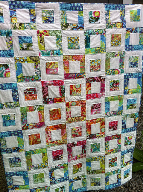 grumpystitches:  Stained Glass Quilt by sandyO5 on Flickr.