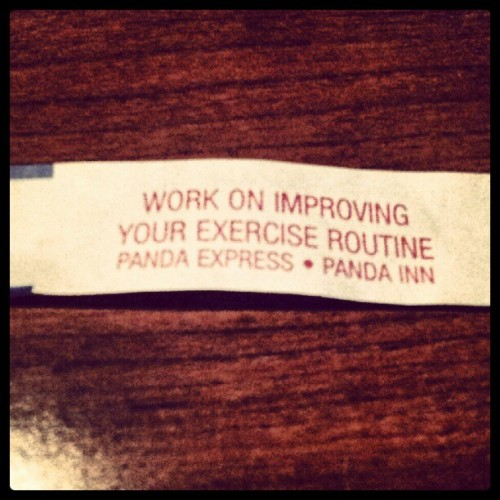My fortune cookie was insulting today :/ (Taken with Instagram)