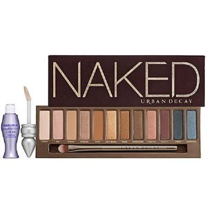 Product Shout Out of the Day! Urban Decay Naked Palette Buy it from amazon.com What it is:A universally flattering palette that features 12 eye shadows with a distinctly Urban look.What it does:This long, lean, and seductive case comes packed with 12 gorgeous neutrals that work for absolutely everyone. Shades range from delicate champagne to gritty gunmetal, and feature five stunning new shades. A variety of textures, including glitter, shimmer, and matte, ensure that you'll never get bored. This versatile palette can go from office appropriate to a night on the town. The mirrored case also features a new professional-quality, cruelty-free Good Karma Eyeshadow Brush, plus a travel-size Eyeshadow Primer Potion in original formula.This set contains:- 12 x 0.05 oz shadows in: Virgin (nude satin), Sin (champagne shimmer), Naked (buff matte), Sidecar (beige sparkle), Buck (brown matte), Half Baked (bronze), Smog (golden brown shimmer), Darkhorse (bronze-plum shimmer), Toasted (taupe-bronze), Hustle (mocha shimmer), Creep (near-black metallic), Gunmetal (dark grey metallic)- Good Karma Eyeshadow Brush- 0.13 oz Travel-size Eyeshadow Primer PotionWhat else you need to know:The rich chocolate velvet and gold foil-covered case conjures up images of pure decadence. Source: Sephora.com