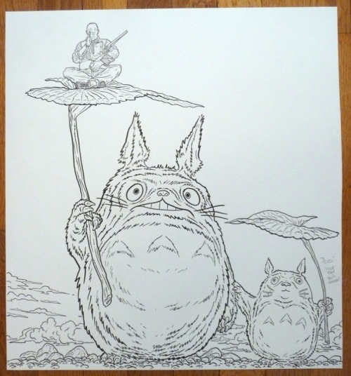 shaolin cowboy totoro and smaller totoro? Sorry I haven't seen totoro! haha