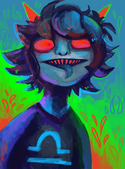 motherhonker:  agentcorrina:  A Terezi doodle for Terezi-owns.  wow this is rly kool