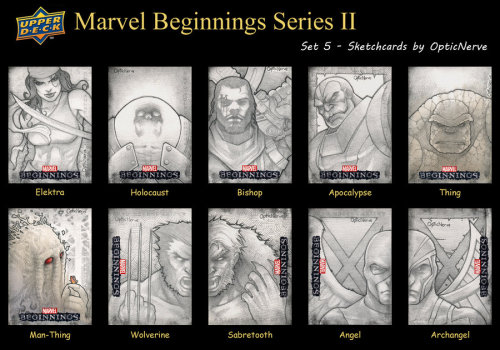 fuckyeaharchangel:  Marvel Beginnings 2 sketchcards - Set 5  by ~theopticnerve