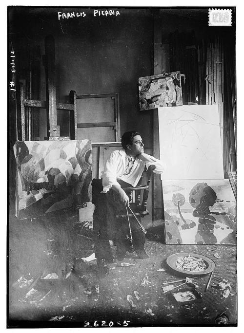 Francis Picabia in his studio, 1910-1915. Source: Library of Congress