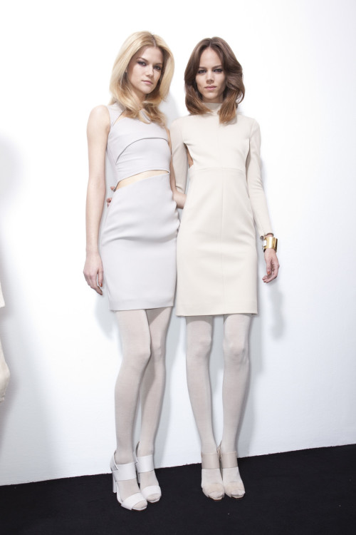 Kasia and Freja Backstage at Gucci Fall 2010