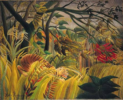 Tiger in a Tropical Storm (Surprised!) Henri Rousseau, 1891