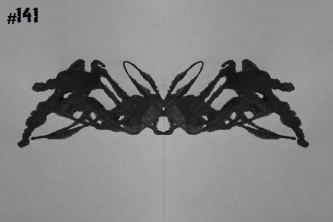inkblotoftheday:  Inkblot #141 Instructions: Tell me what you see. -Enjoy  It is a little known fact that many of the monsters that battled Godzilla all came from an island that time forgot. In fact, Godzilla was a notorious criminal and had escaped from  Hakkenden Isle. Many of the monsters that came after Godzilla were in fact bounty hunters. Two in particular, Mothra and Ebirah, were lovers and their eventual demise at the pointy end of Godzilla left a large hole in the bounty hunter community of Hakkenden …and in the lovers orphaned son Kaijin. Now he has grown up. Part crustacean sea monster, part space moth … and fully pissed with Godzilla. GODZILLA vs KAIJIN Coming Soon!