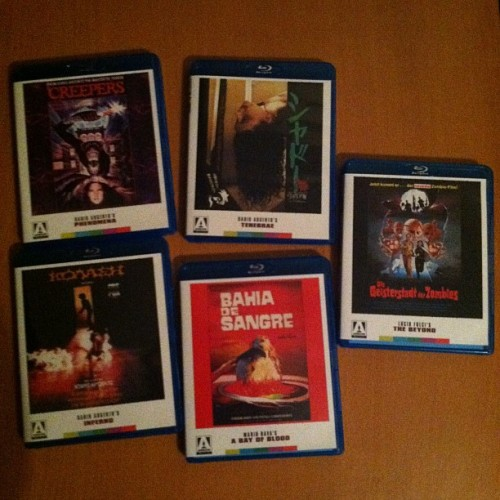 Mario Bava, Dario Argento, & Lucio Fulci on Arrow Blu-Ray. Got these unbelievably cheap a few weeks ago.
