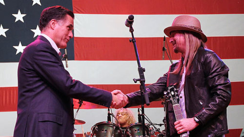 "Kid Rock to perform at Republican National Convention Romney/Rock 2012? Just kidding, that's not happening. You know what is happening, though? A Kid Rock performance at the Republican National Convention this summer. Rock has always been an outspoken conservative, so this isn't really too surprising, but still, there's now a chance that we'll get to see Mitt Romney singing and clapping along to ""Bawitdaba,"" and that possibility alone will absolutely make the RNC worth watching. If that's not enough to entice you, Lynyrd Skynyrd will be there as well (Photo credit: Getty). source Follow ShortFormBlog: Tumblr, Twitter, Facebook"