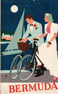 hollyhocksandtulips:  Bermuda travel poster Illustration by Adolph Treidler