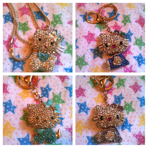 Here are some Hello Kitty accessories, they're 15$ each. Theres only these 4. My online shop will be up pretty soon so you'll be able to order them online if there is any left. ヾ(*゚ェ゚*)ノ