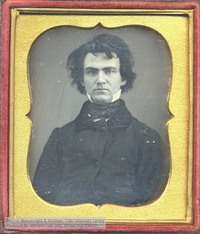 legrandcirque:  Daguerreotype portrait of William Austin Dickinson, attorney and older brother of the poet Emily Dickinson, early 1850s. Source:  Todd-Bingham Picture Collection and Papers, Yale University Manuscripts & Archives Digital Images Database