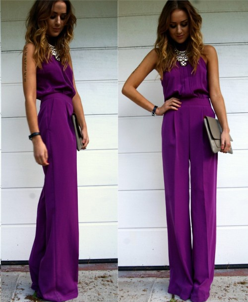lookbookdotnu:  Purple Jumpsuit (by Nicola Kirkbride)