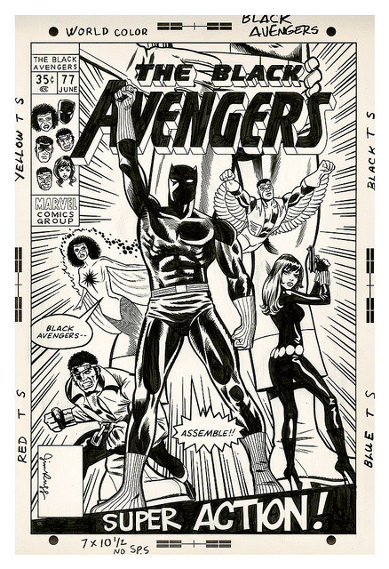 Black Avengers on Flickr.Heroes Con 2012 art auction
