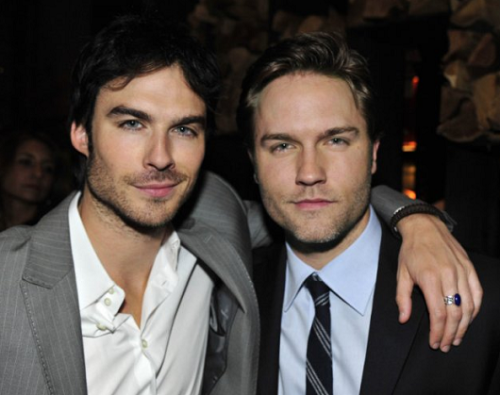 Ian Somerhalder (Vampire Diaries) & Scott Porter (Hart of Dixie) at the CW Party.