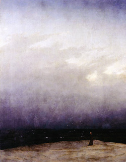 castlekeys:  The Monk by the Sea (Der Mönch am Meer),  Caspar David Friedrich