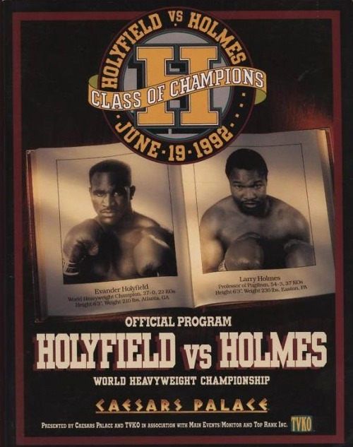 upnorthtrips:  20 YEARS AGO TODAY |6/19/92| Evander Holyfield defeated Larry Holmes by Unanimous Decision in 12 rounds to remain the Undisputed Heavyweight Champion.