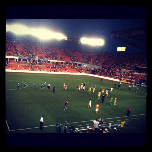 Game. 2-1 #dynamo over FC Dallas (Taken with Instagram)