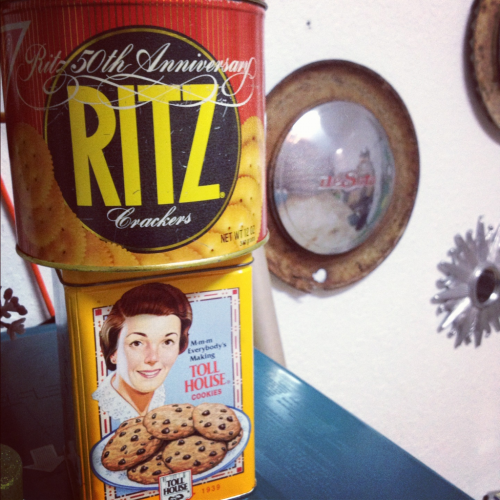 Awesome collectable Ritz and Toll House tins coming soon to TopShelfVintage1.etsy.com
