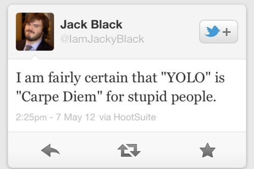 I don't ordinarily find Jack Black all that funny but this is funny.