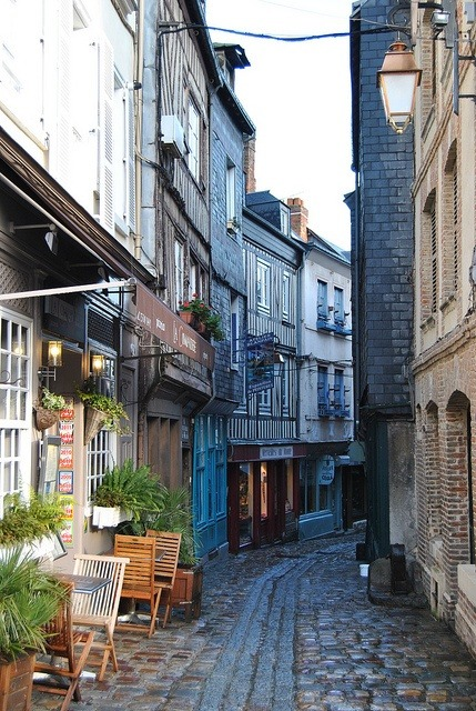 bluepueblo:  Narrow Street, Normandy, France photo via beverly